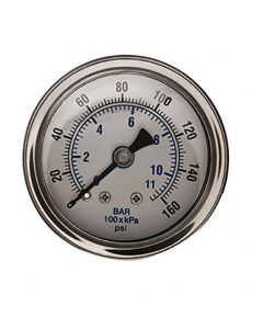 """Littlejohn carries the best quality G0160SLB Gauge 1/8"""" 0-160 CRT Back Con by   for your needs"""