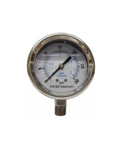 """Littlejohn carries the best quality I30SL Gauge 1/4"""" 0-30 SS Tube by   for your needs"""